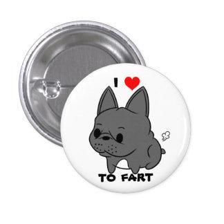 J'aime péter bouton (le noir) badge rond 2,50 cm