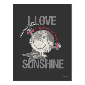 J'aime petite Mlle Sunshine Carte Postale