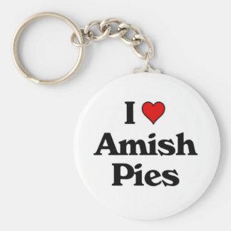 J'aime Pies.jpg amish Porte-clé Rond