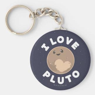 J'aime Pluton Porte-clé Rond