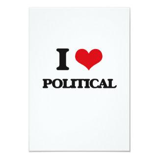 J'aime politique invitations personnalisées