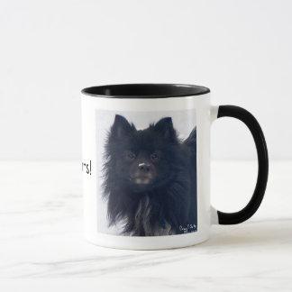"""""""J'AIME Pomeranians !"""" Tasse de peinture"""