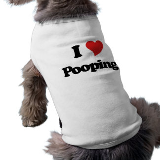 J'aime Pooping T-shirt Pour Chien