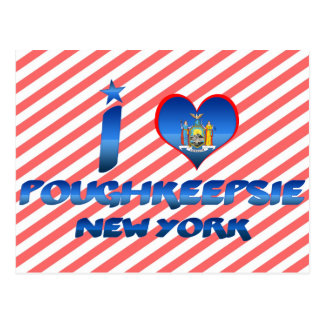J'aime Poughkeepsie, New York Carte Postale