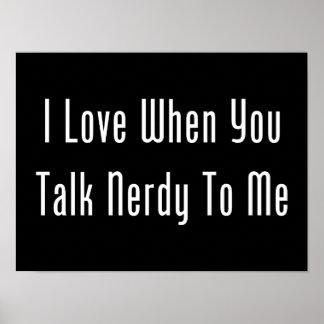 J'aime quand vous me parlez ringard (l'obscurité) poster