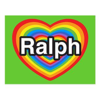 J'aime Ralph. Je t'aime Ralph. Coeur Carte Postale