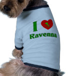 J'aime Ravenne Italie Tee-shirts Pour Toutous
