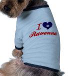 J'aime Ravenne, Kentucky T-shirts Pour Chien