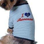 J'aime Ravenne, Nébraska T-shirt Pour Animal Domestique
