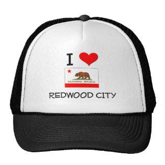J'aime REDWOOD CITY la Californie Casquette
