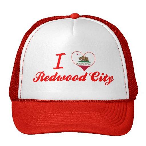 J'aime Redwood City, la Californie Casquette De Camionneur