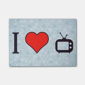 J'aime regarder la TV Note Autocollante