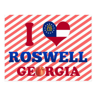 J'aime Roswell, la Géorgie Cartes Postales