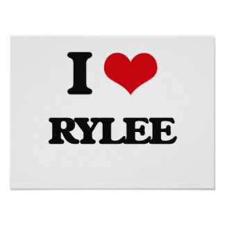 J'aime Rylee Poster