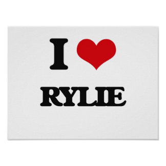 J'aime Rylie Poster