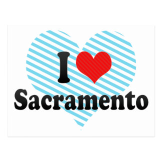 J'aime Sacramento Carte Postale