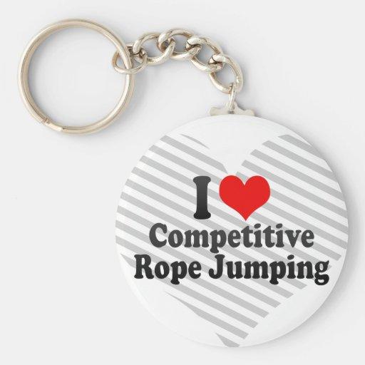 J'aime sauter concurrentiel de corde porte-clés