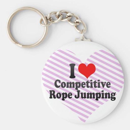 J'aime sauter concurrentiel de corde porte-clef