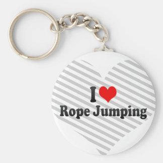 J'aime sauter de corde porte-clés