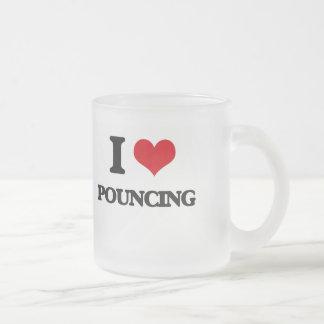 J'aime sauter mug en verre givré