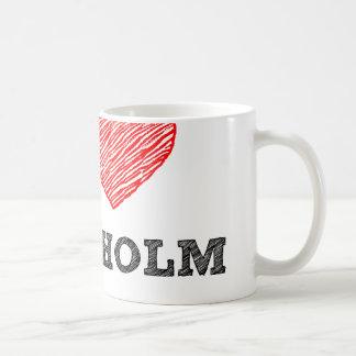 J'aime Stockholm Mug Blanc