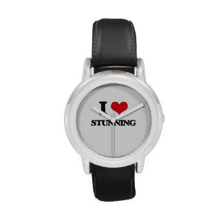 J'aime stupéfier montres bracelet