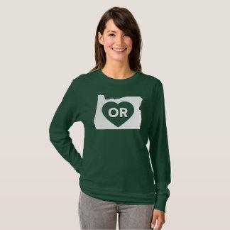 J'aime T-shirt de la douille des femmes d'état de
