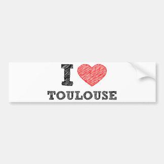 J'aime Toulouse Autocollants Pour Voiture