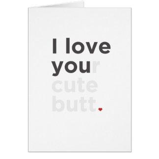 J'aime votre carte drôle de bout mignon