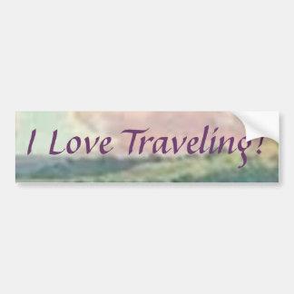 J'aime voyager ! Adhésif pour pare-chocs Autocollant De Voiture