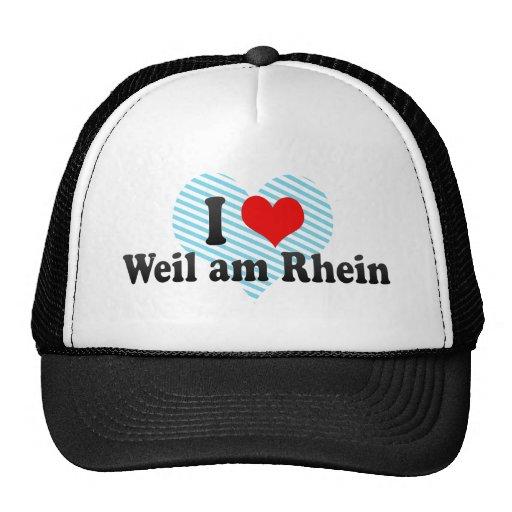 J'aime Weil suis Rhein, Allemagne Casquette De Camionneur