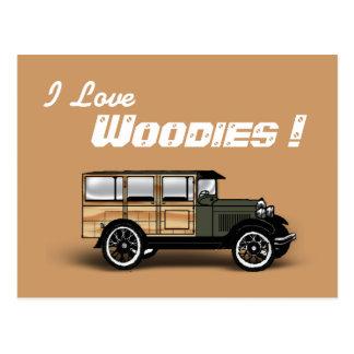 J'aime, Woodies ! Carte Postale