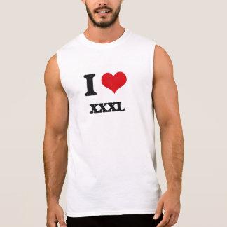 J'aime Xxxl Tee-shirts Sans Manches