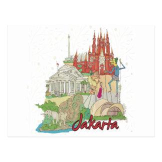 Jakarta Carte Postale