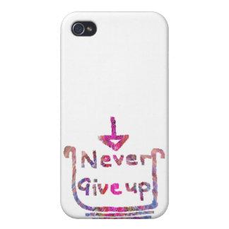 Jamais Giveup - presention de motivation artistiqu Coque iPhone 4 Et 4S