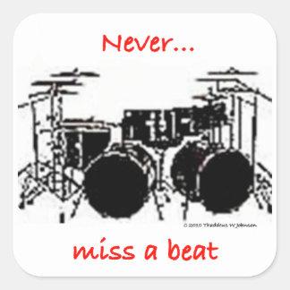 Jamais Mlle A Beat Sticker Sticker Carré