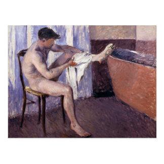 Jambe de séchage d'homme par Caillebotte Carte Postale