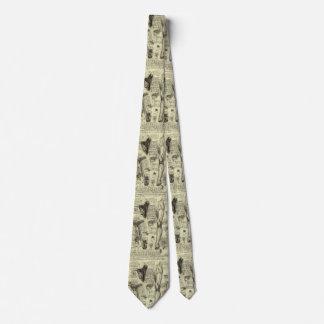 Jambe humaine vintage Leonardo da Vinci de larynx Cravate