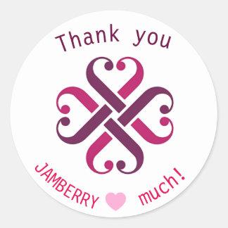 Jamberry vous remercient les phoques de expédition sticker rond