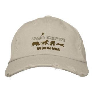 Jambo chacun aide sauver les animaux mis en danger casquette brodée