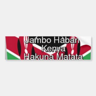 Jambo Kenya Hakuna Matataundefined Autocollant Pour Voiture
