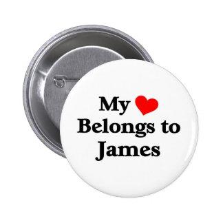 James a mon coeur badges avec agrafe