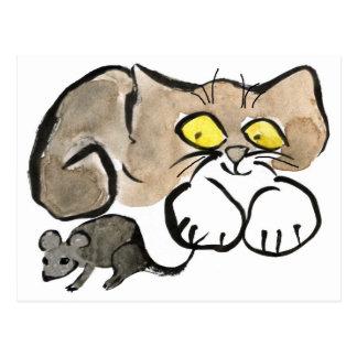 James a une souris par elle est queue carte postale