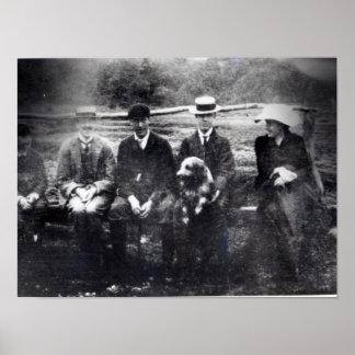 James et Lytton Strachey avec Thoby, Adrian Posters