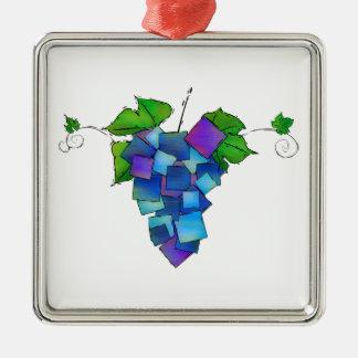Jamurissa - raisins carrés ornement carré argenté