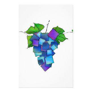 Jamurissa - raisins carrés papier à lettre customisé