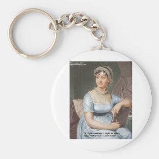 Jane Austen a aimé U moins de citation sur des cad Porte-clé Rond