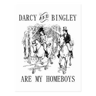 Jane Austen Darcy et cartes postales de Homeboys