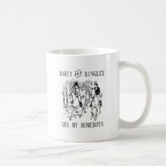 Jane Austen Darcy et tasse de Homeboys de Bingley