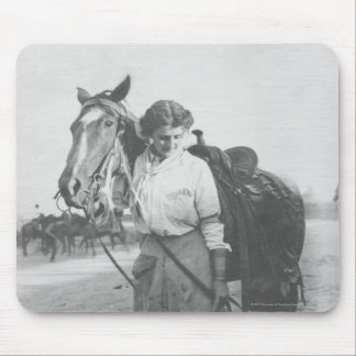 Jane Bernoudi et son cheval Tapis De Souris